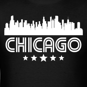 Retro Chicago Skyline - Men's T-Shirt