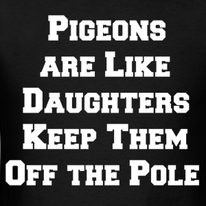 pigeon daughters white - Men's T-Shirt