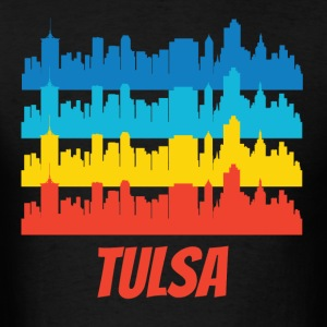 Retro Tulsa OK Skyline Pop Art - Men's T-Shirt