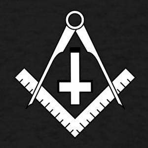 FreemasonCrossBlack - Men's T-Shirt