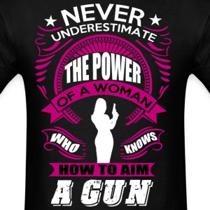 A WOMAN WITH GUN T SHIRT - Men's T-Shirt