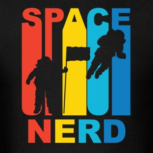 Vintage Space Nerd Astronaut Graphic - Men's T-Shirt