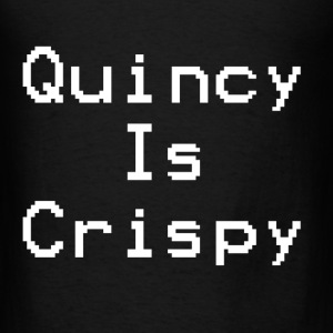 QuincyIsCrispy Text Logo (White) - Men's T-Shirt