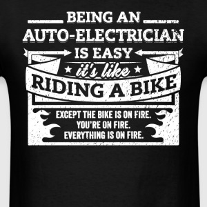 Electrician Shirt Being A Auto-Electrician Is Easy - Men's T-Shirt