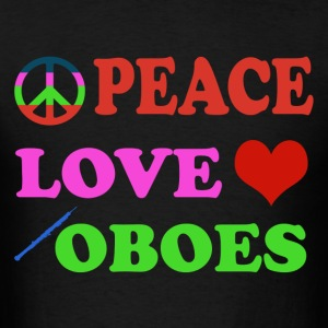 Peace Love Oboes - Men's T-Shirt