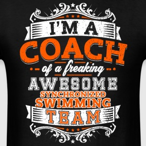 Coach of an awesome synchronized swimming team - Men's T-Shirt