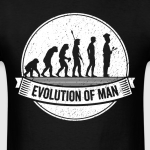 Funny Chef: Graphic Cook Evolution Cooking Shirt - Men's T-Shirt