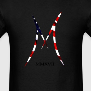 Official MAXIX MMXVII Brand Logo w American Flag - Men's T-Shirt