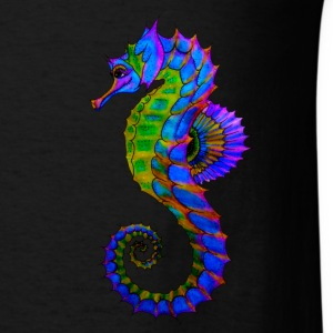 Vibrant Colored Seahorse - Men's T-Shirt