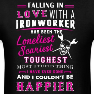 Fall In Love With Ironworker Shirt - Men's T-Shirt