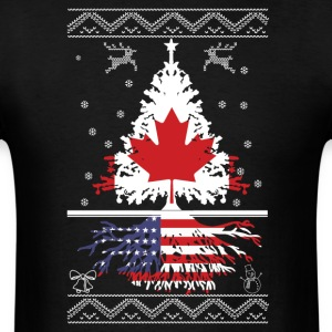 Canadian with American root - Men's T-Shirt