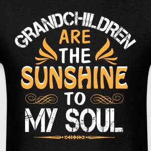 Grandchildren Are The Sunshine To My Soul T Shirt - Men's T-Shirt