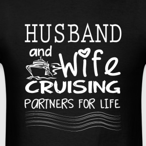 Husband And Wife Cruising Partners For Life Shirt - Men's T-Shirt
