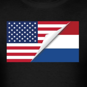 Half American Half Dutch Flag - Men's T-Shirt