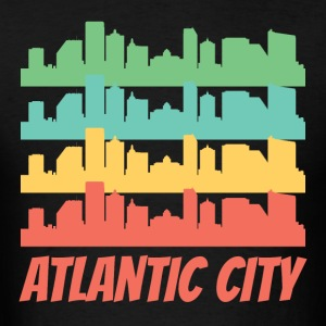 Retro Atlantic City NJ Skyline Pop Art - Men's T-Shirt