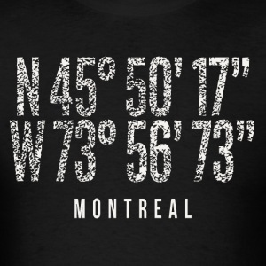 Montreal Canada City Pride Distressed Coordinates - Men's T-Shirt