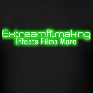 Green Extreamfilmaking Glowing Logo - Men's T-Shirt