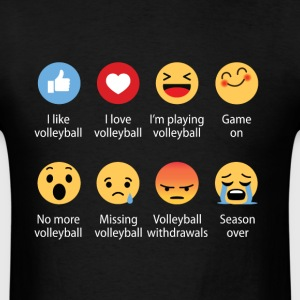 Volleyball emojication funny - Men's T-Shirt