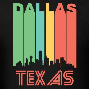 Retro Dallas Skyline - Men's T-Shirt