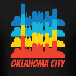 Retro Oklahoma City OK Skyline Pop Art - Men's T-Shirt
