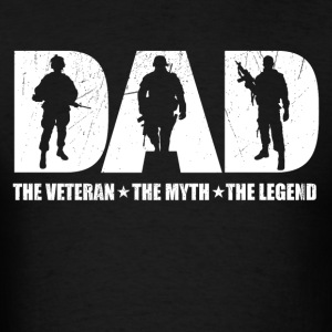 Veteran Dad The Man The Myth The Legend - Men's T-Shirt