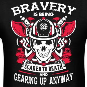 Love The Bravery Firefighter Shirt - Men's T-Shirt
