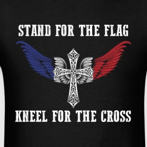 Stand for the flag France kneel for the cross - Men's T-Shirt