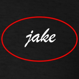 jake_oval_white - Men's T-Shirt