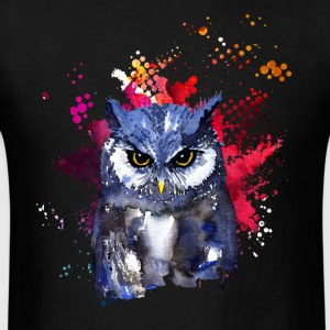 Owl Watercolor T shirt - Men's T-Shirt