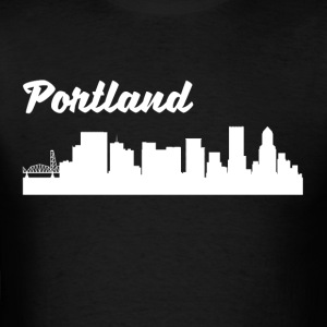 Portland OR Skyline - Men's T-Shirt