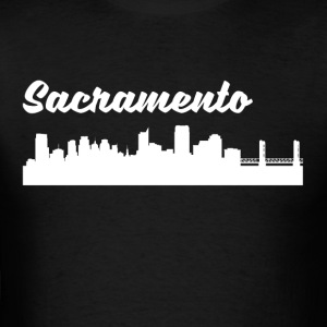 Sacramento CA Skyline - Men's T-Shirt