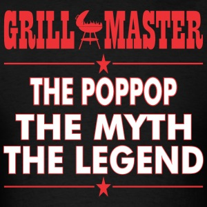 Grillmaster The Poppop The Myth The Legend BBQ - Men's T-Shirt