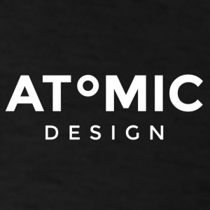 Atomic Brand White logo - Men's T-Shirt