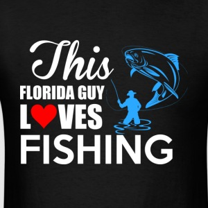 This Florida Guy Loves Fishing T Shirt - Men's T-Shirt