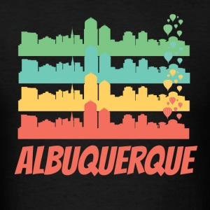 Retro Albuquerque NM Skyline Pop Art - Men's T-Shirt