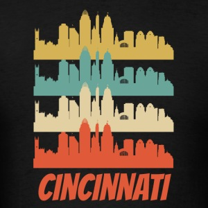 Retro Cincinnati OH Skyline Pop Art - Men's T-Shirt