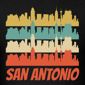 Retro San Antonio TX Skyline Pop Art - Men's T-Shirt