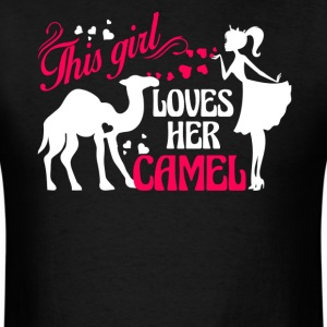 Girl Loves Her Camel Shirt - Men's T-Shirt