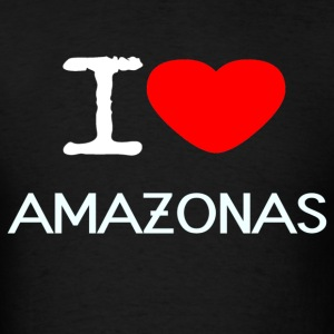 I LOVE AMAZONAS - Men's T-Shirt