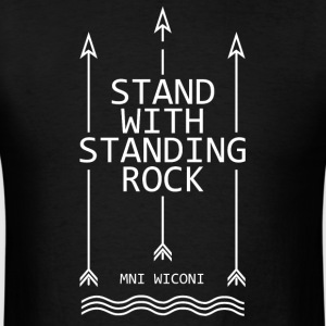 Stand with standing rock - Men's T-Shirt