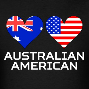 Australian American Hearts - Men's T-Shirt