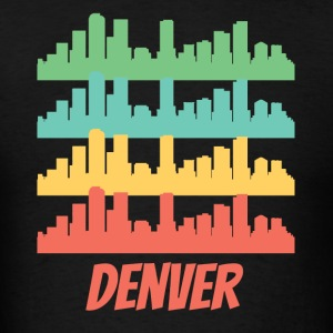 Retro Denver CO Skyline Pop Art - Men's T-Shirt