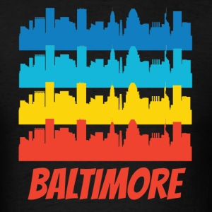 Retro Baltimore MD Skyline Pop Art - Men's T-Shirt