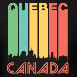 Retro Quebec Skyline - Men's T-Shirt