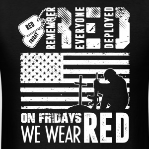 Remember Everyone Deployed Red Friday Shirt - Men's T-Shirt