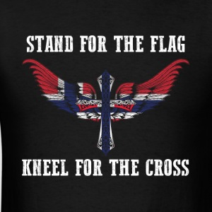 Stand for the flag Norway kneel for the cross - Men's T-Shirt