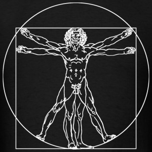 Vitruvian Man (da Vinci) - Men's T-Shirt