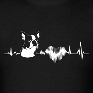 Boston Terrier Heartbeat Shirt - Men's T-Shirt