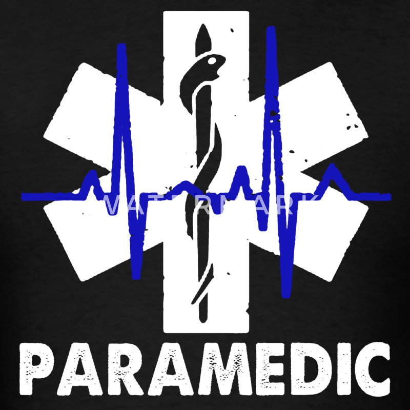 Paramedic Heartbeat Shirt - Men's T-Shirt