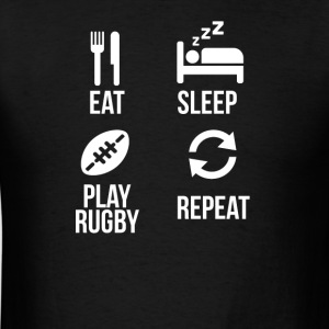 eat sleep play rugby - Men's T-Shirt